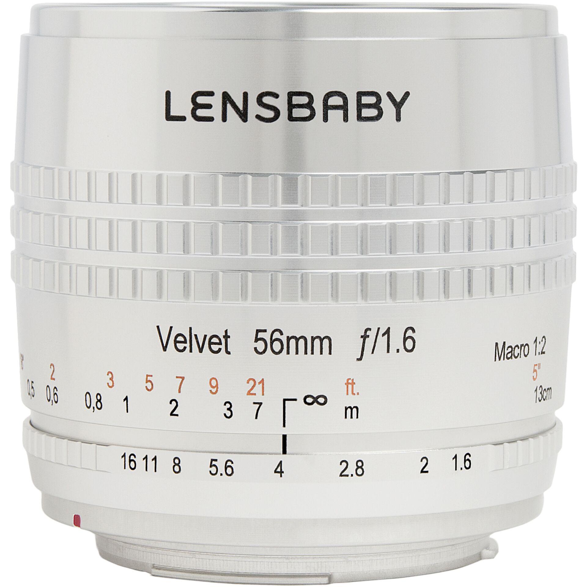 Lensbaby Velvet 56 SE Canon EF silver