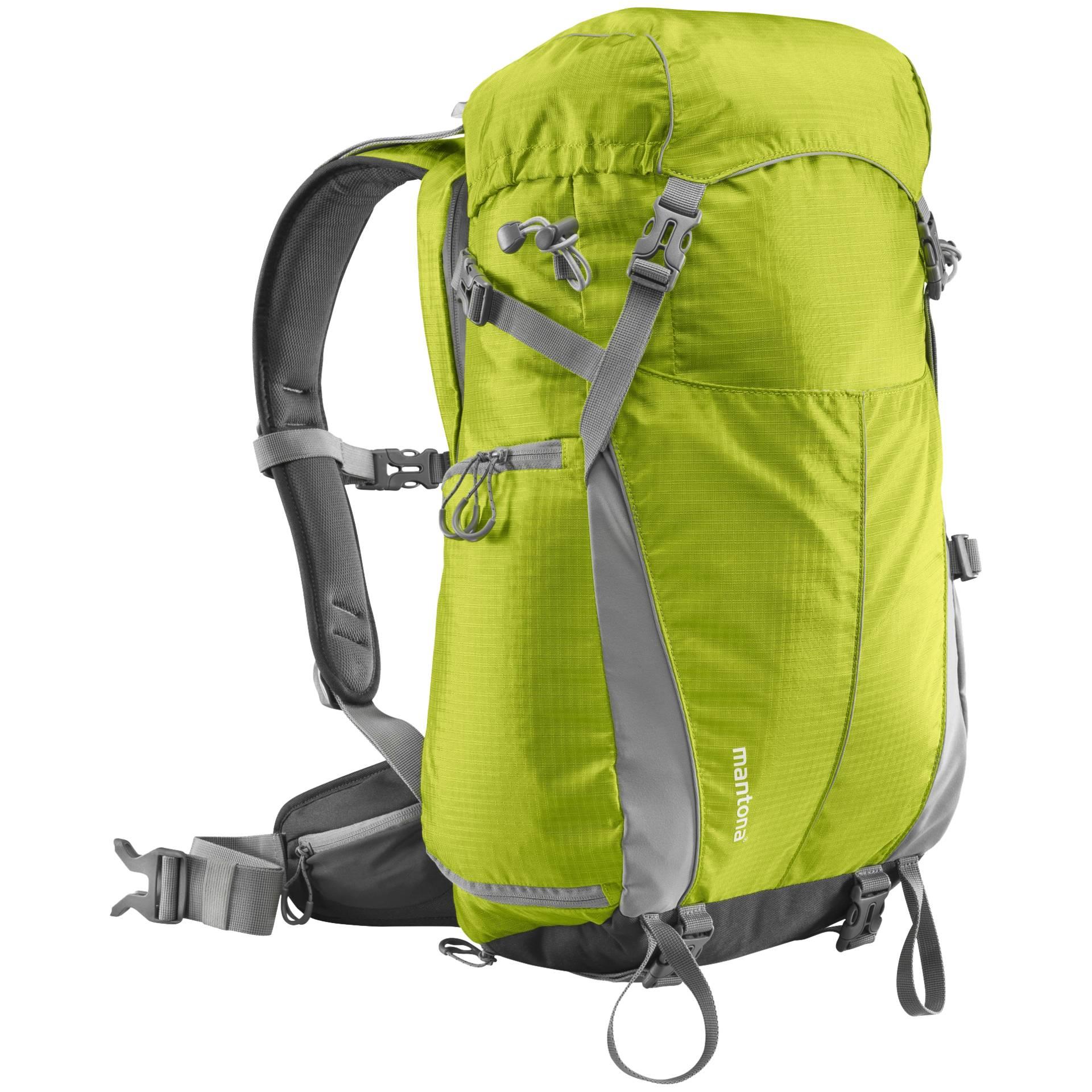 mantona Elements Outdoor Rucksack mit Tasche hellgrün