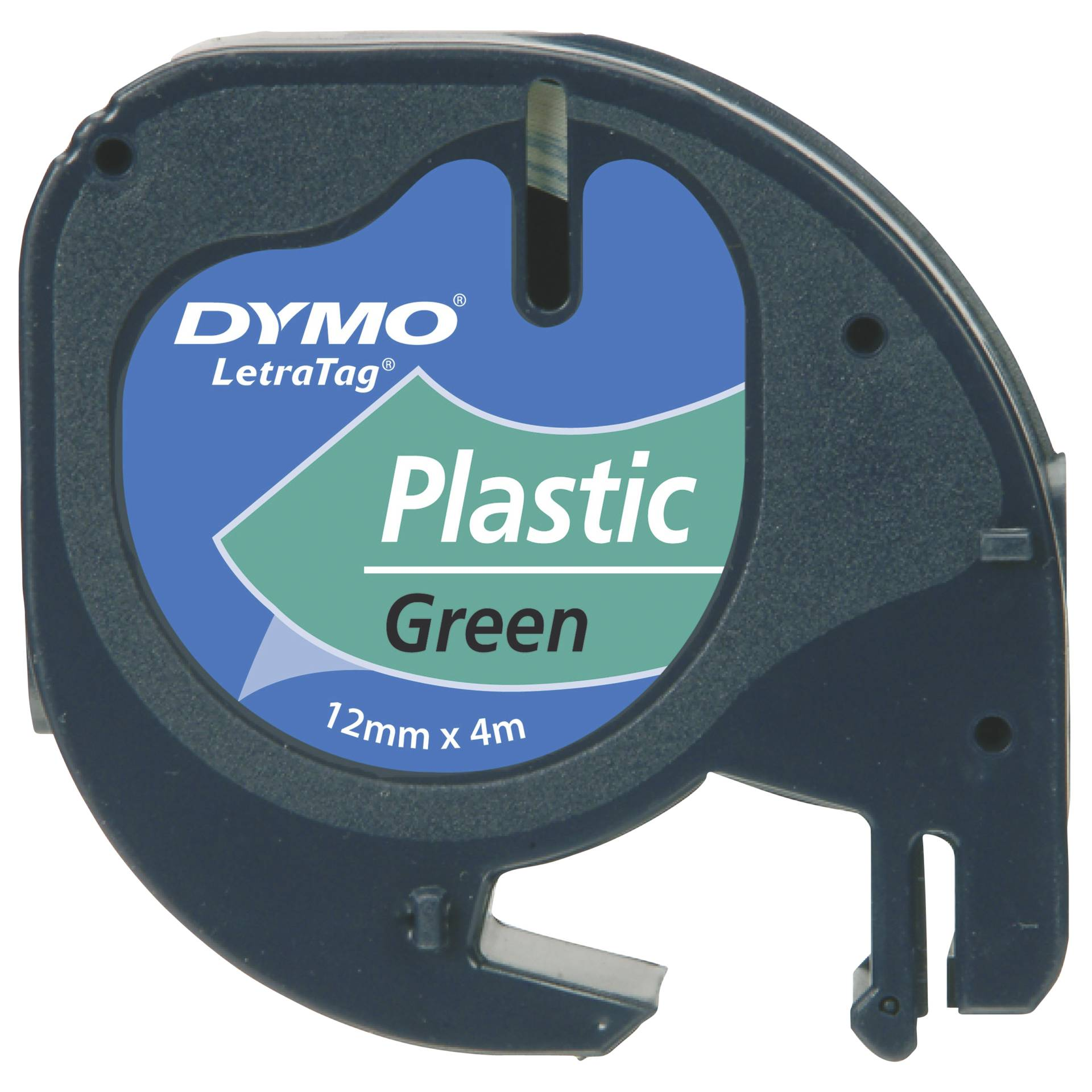 Dymo Letratag Band Plastik grün 12 mm x 4 m           91224