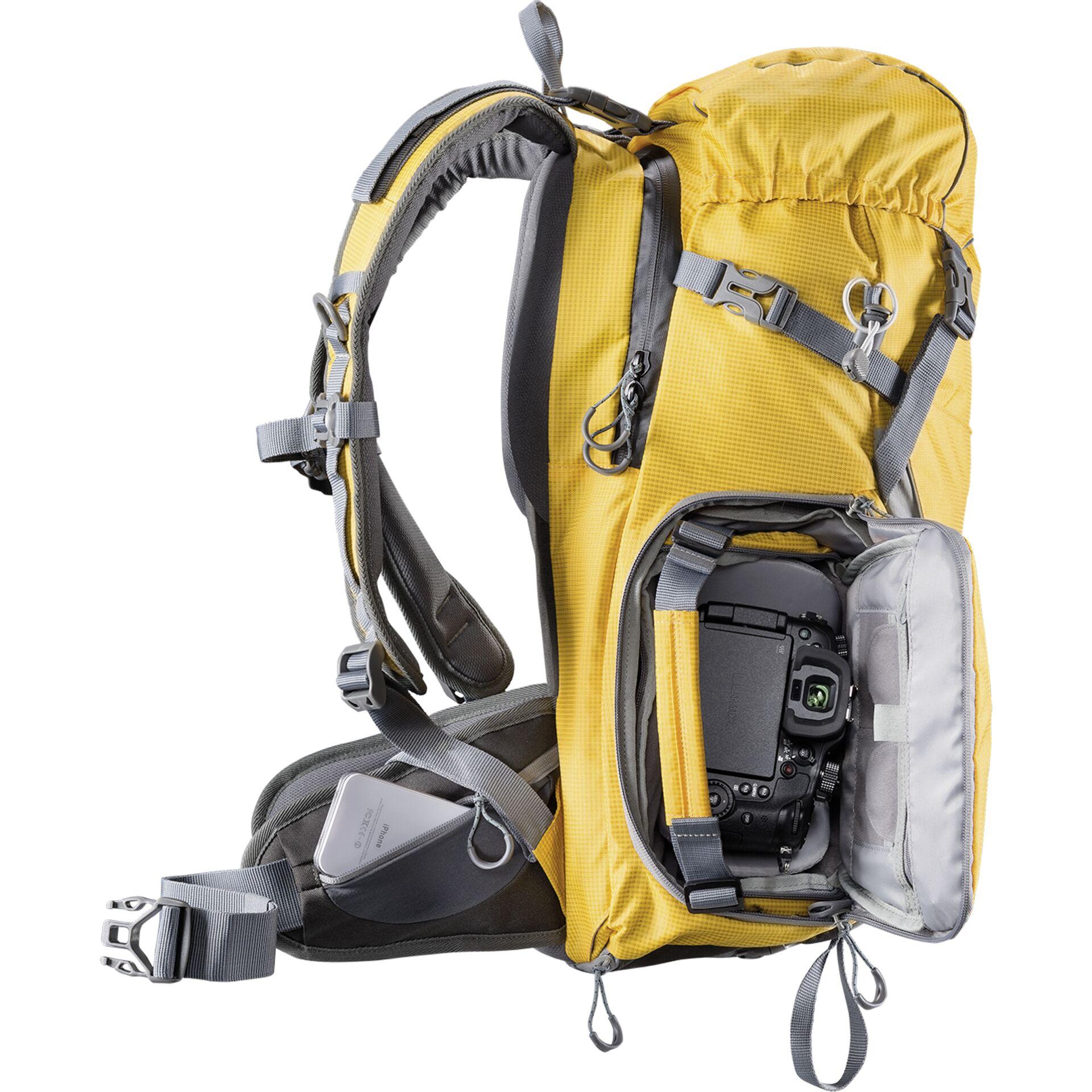 mantona Elements Outdoor Rucksack mit Tasche orange