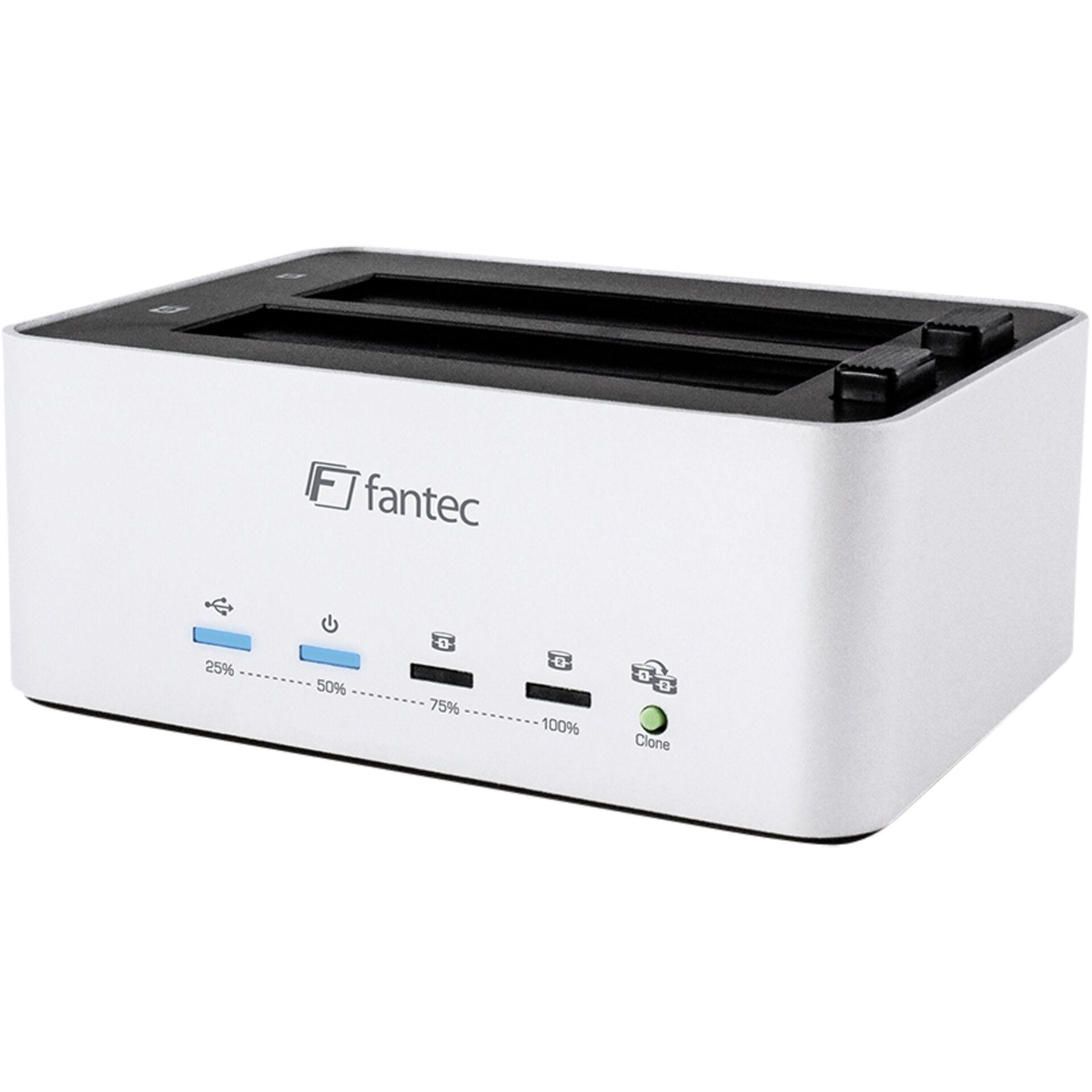 "FANTEC AluDOCK2X USB3.0 DOCKING \""Aluminium, Kopierfunktion, 2,5\"