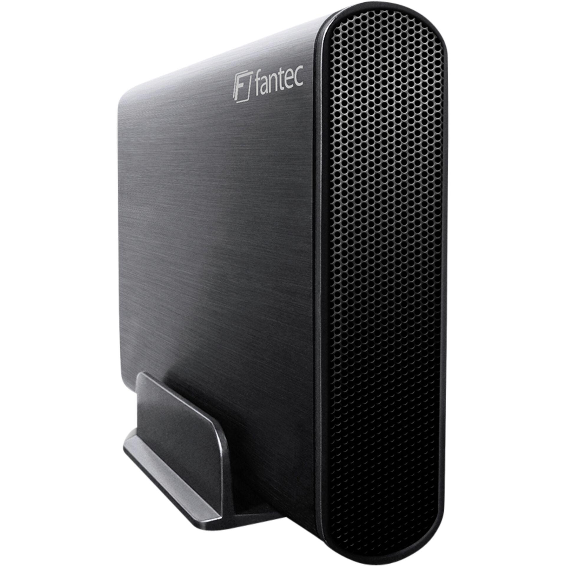 """FANTEC DB-AluSky U3-6G schwarz 3,5\"""" SATA, USB 3.0, Aluminium"""
