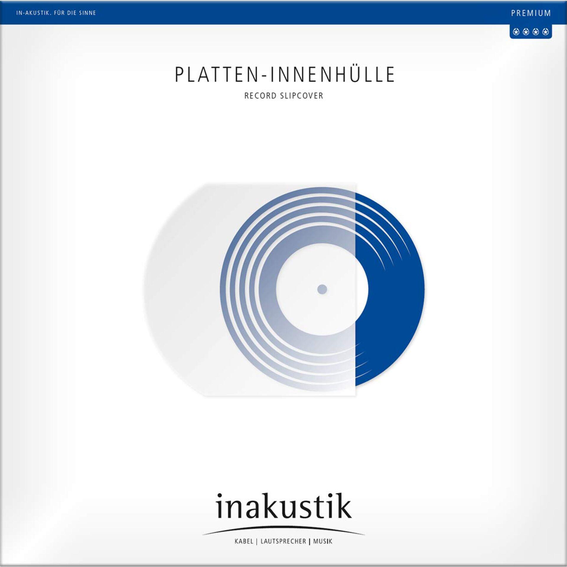 """1x 50 in-akustik Premium LP \""""Sleeves 12\"""" antistatic\"""