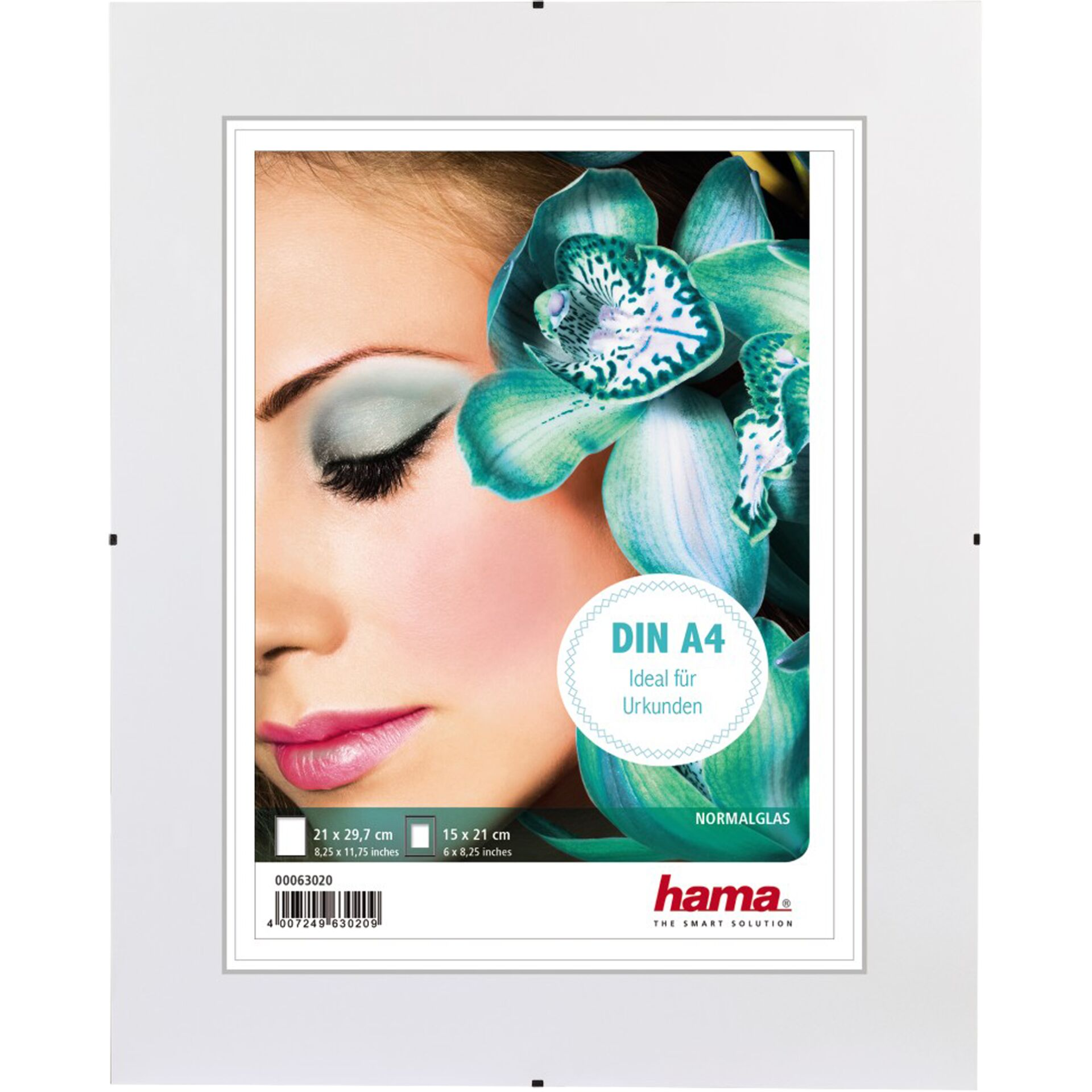 Hama Clip-Fix PS DIN A4  21x29,7 rahmenlos Polystyrol       61595