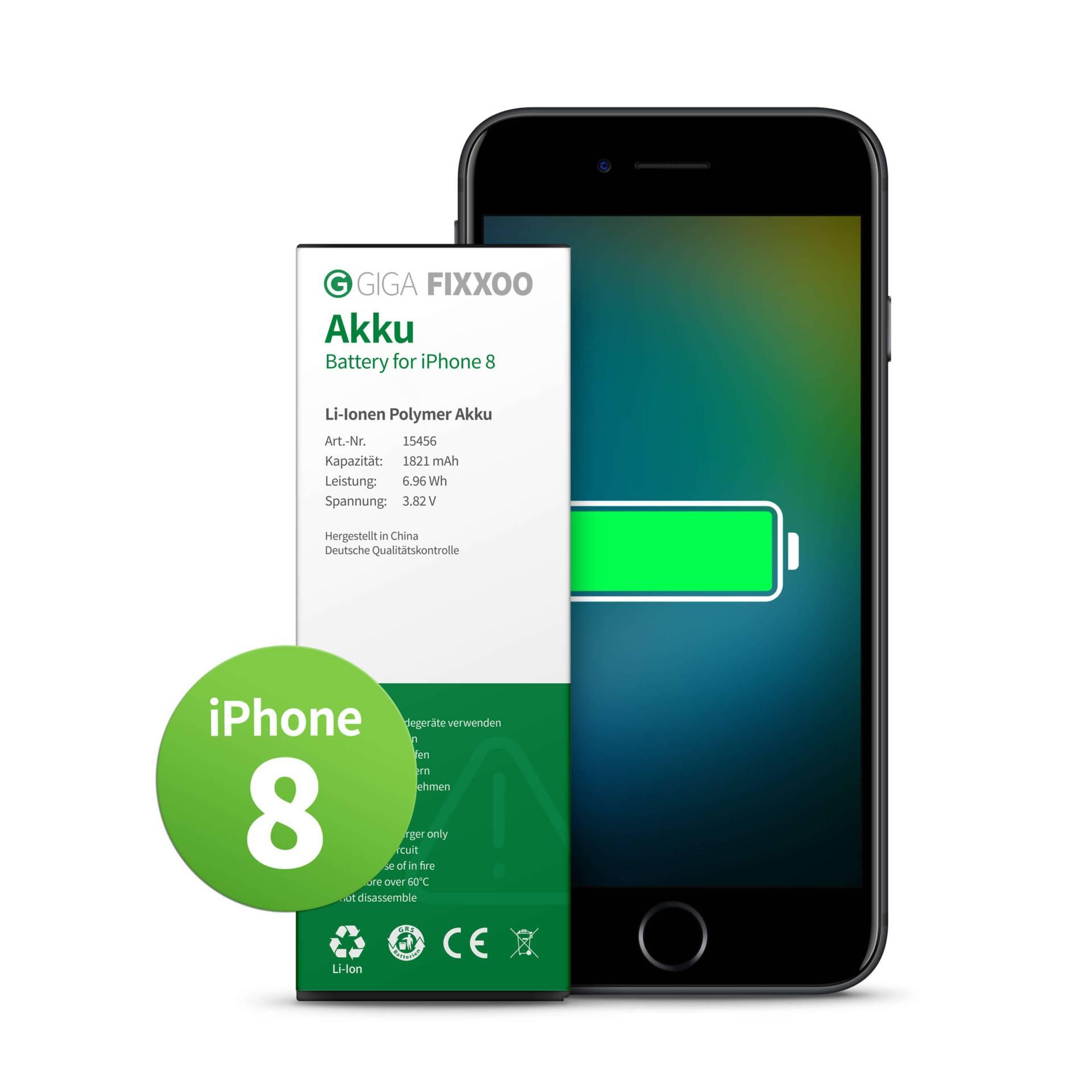 GIGA Fixxoo iPhone 8 Akku