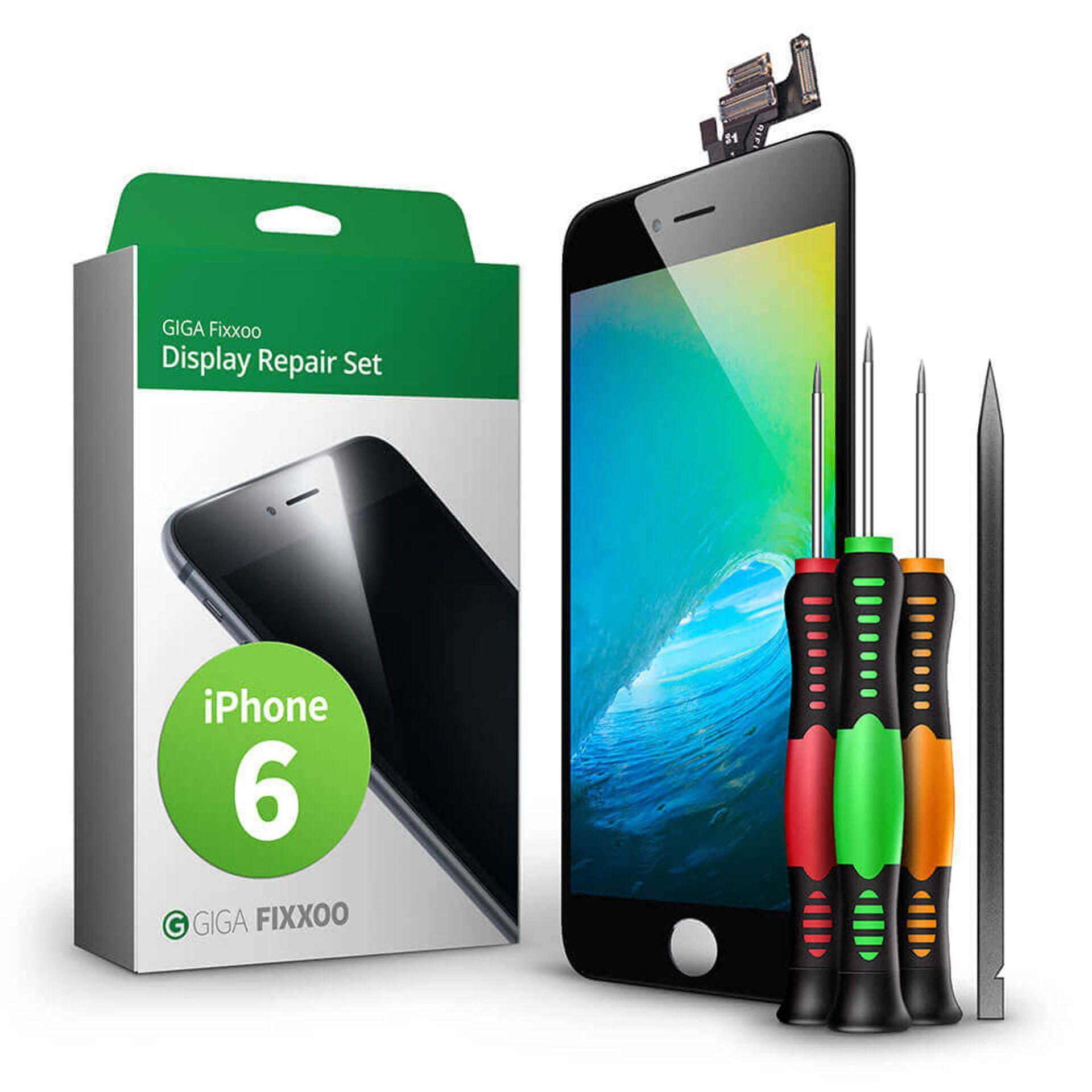 GIGA Fixxoo  iPhone 6 Display Komplettset schwarz