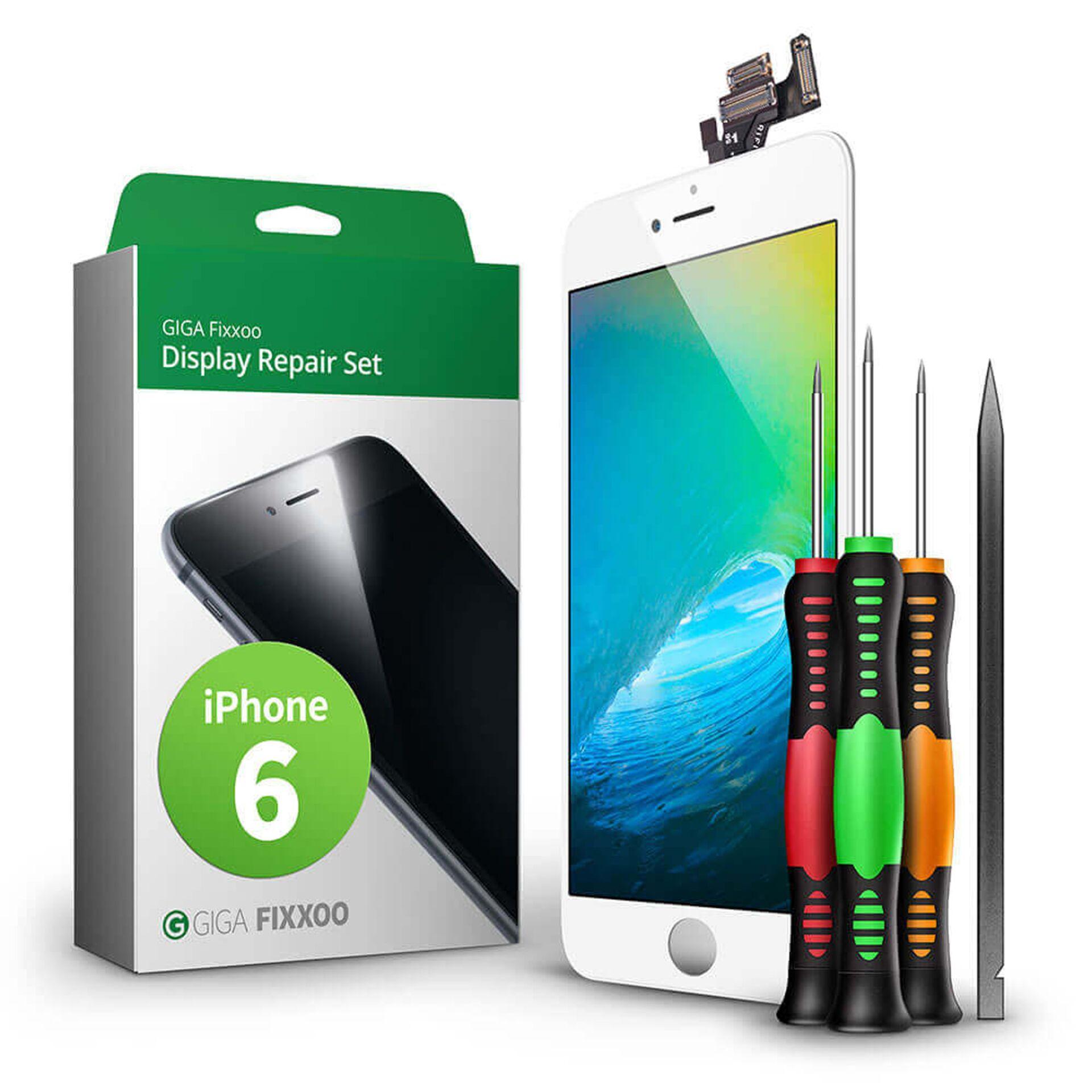 GIGA Fixxoo  iPhone 6 Display Komplettset weiß