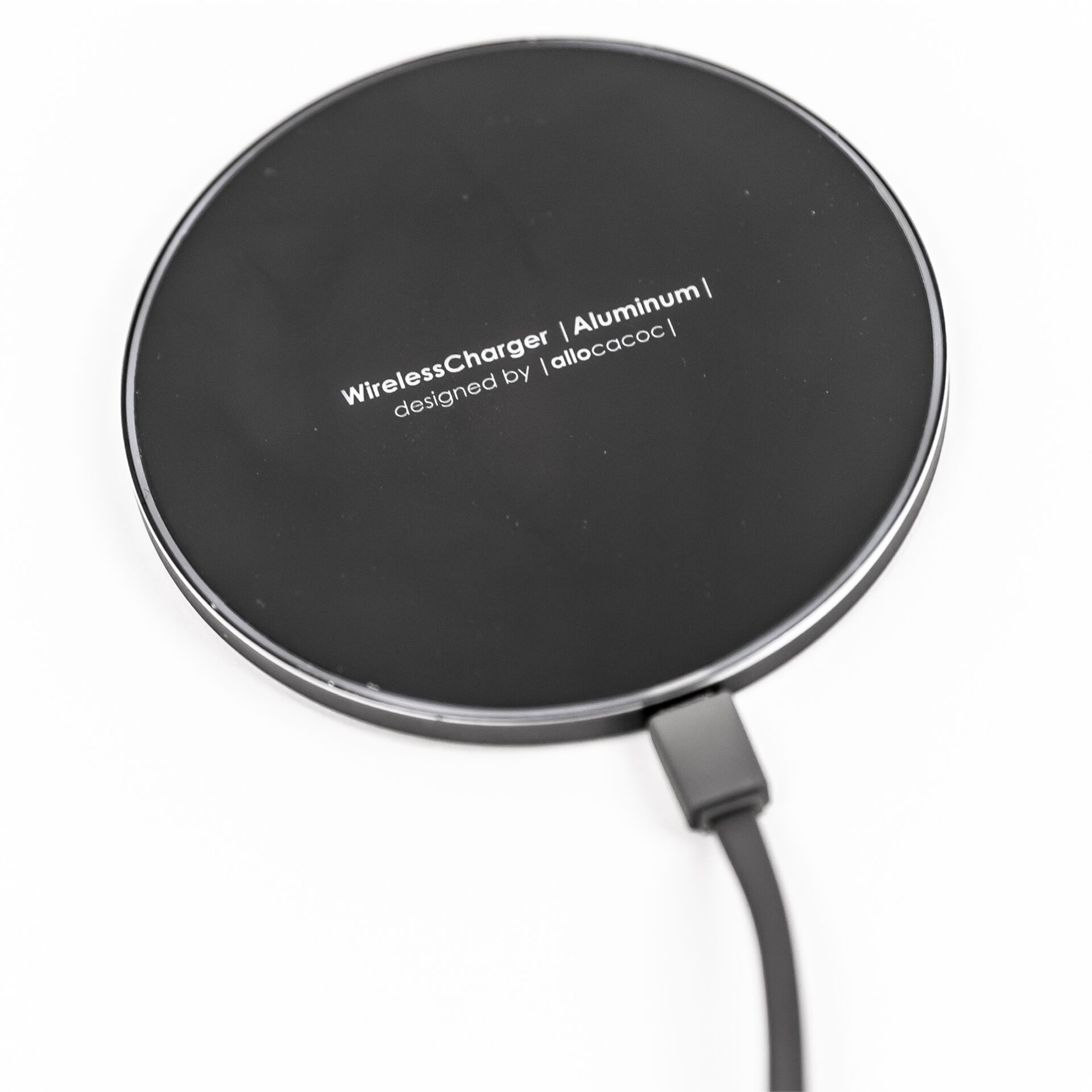allocacoc Wireless Charger Aluminum black