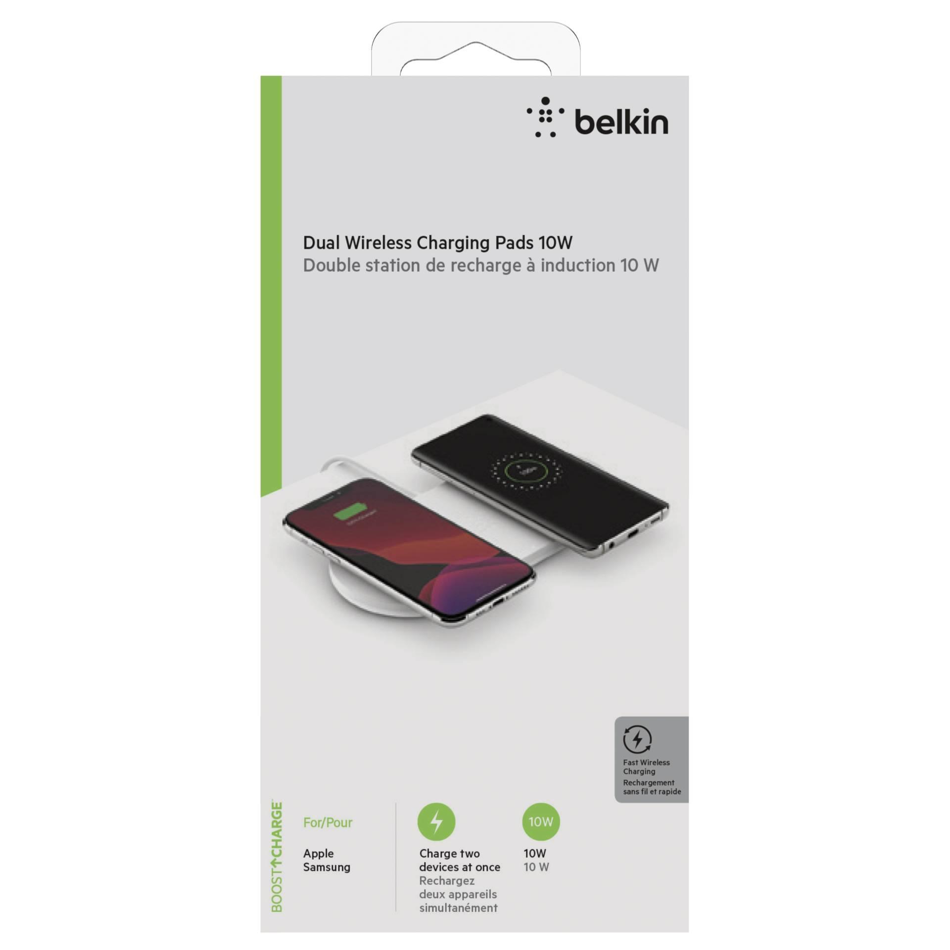 Belkin Dual wirel. Charging Pad 2x10W Netzteil weiß   WIZ002vfWH
