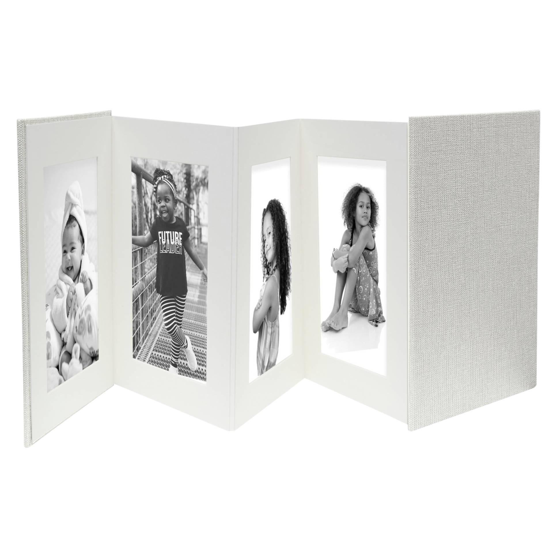 Deknudt Leporello grau   8x13x18 Leinen, 8 Bilder      A66DC7 8PH