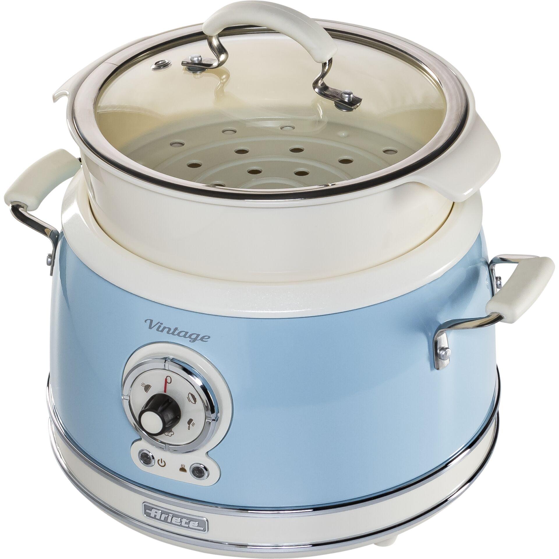 Ariete Vintage Dampfgarer, blau
