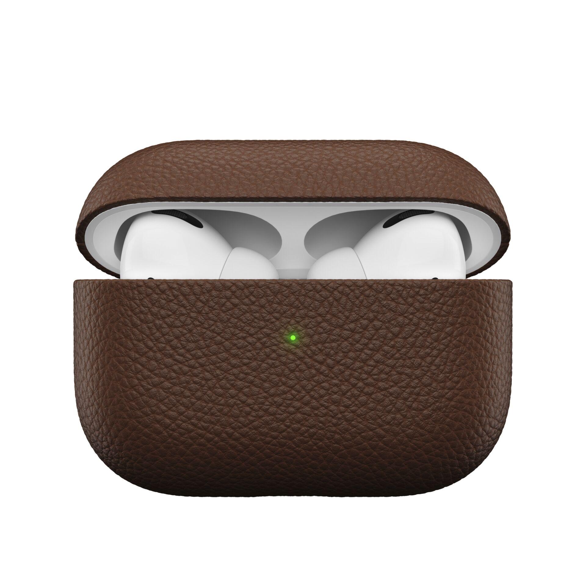 KeyBudz Artisan Series Leather AirPods Pro Case Natural Brown