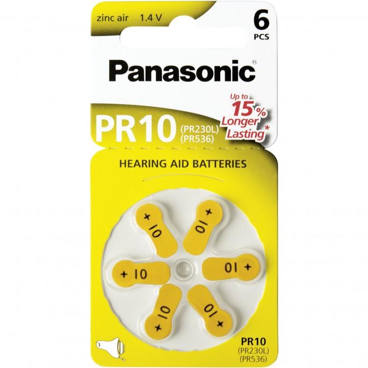 Panasonic PR 10 Hörgerätezellen Zinc Air 6er Rad