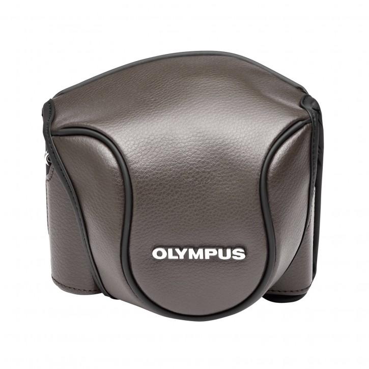 Olympus CSCH-118 Ledertasche braun für Stylus 1