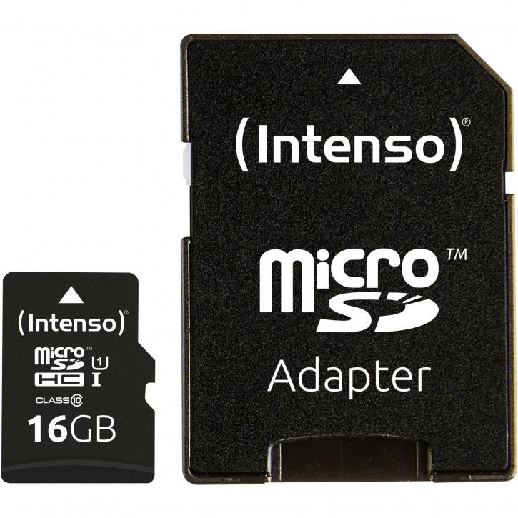 Intenso microSDHC Card      16GB Class 10 UHS-I Premium