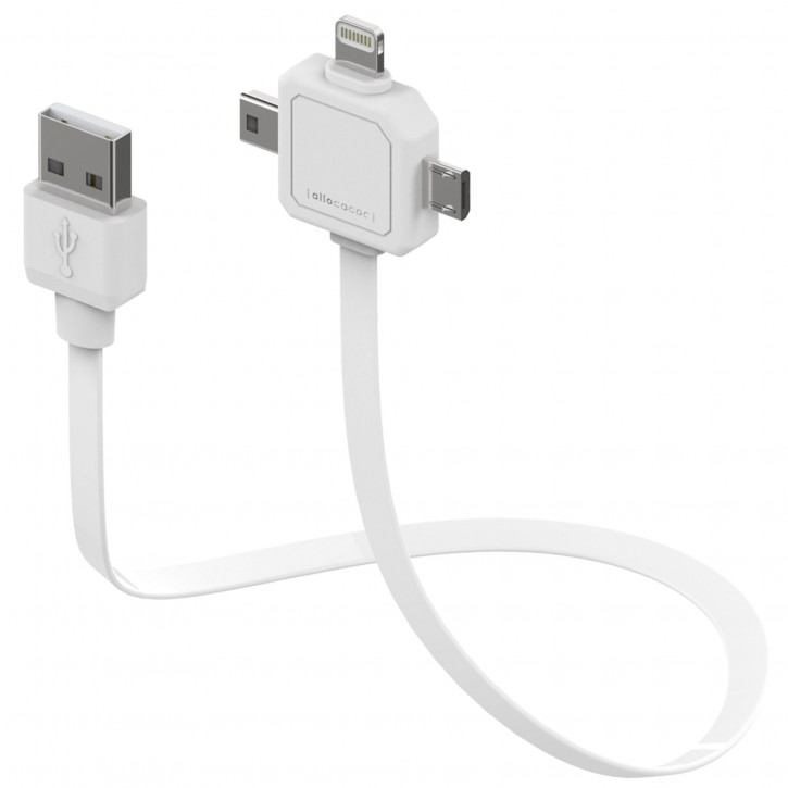 allocacoc Power USB Kabel weiss