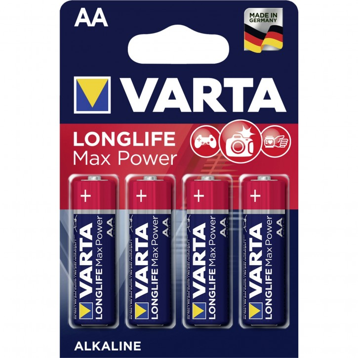 1x4 Varta Longlife Max Power Mignon AA LR 6 DE-Version