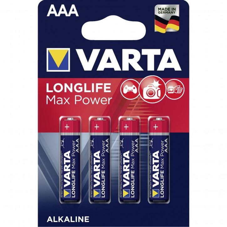 1x4 Varta Longlife Max Power Micro AAA LR 03 DE-Version
