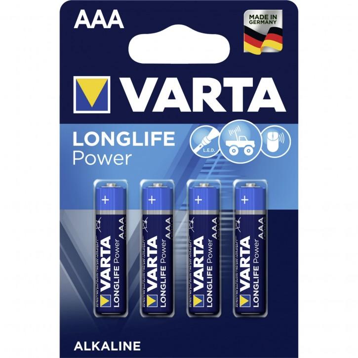 1x4 Varta Longlife Power Micro AAA LR 03 DE-Version