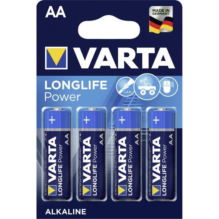 1x4 Varta Longlife Power Mignon AA LR 6 DE-Version