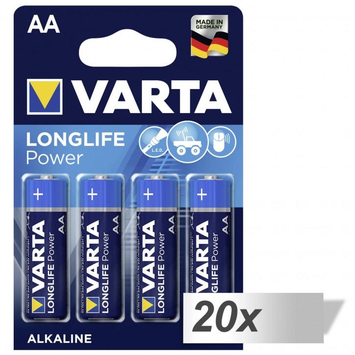 20x4 Varta Longlife Power Mignon AA LR 6 DE-Vers. VPE Innenkarton
