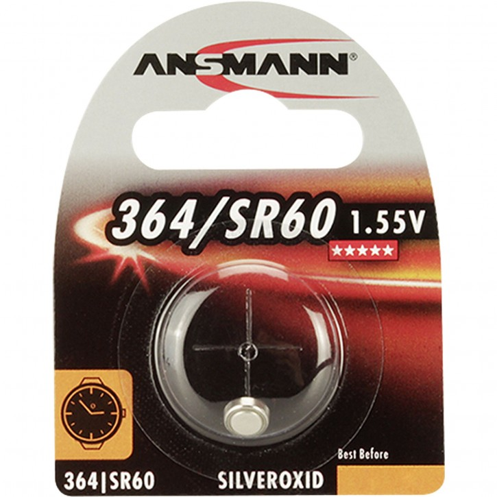 10x1 Ansmann 364 Silveroxid SR60 VPE Innenkarton
