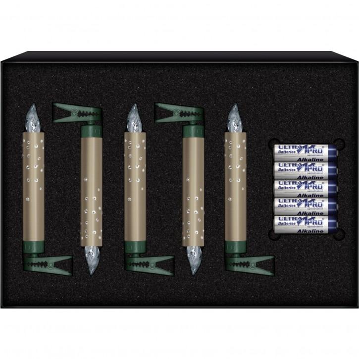 Krinner Lumix Crystal 5er Erweiterungs Set champagner