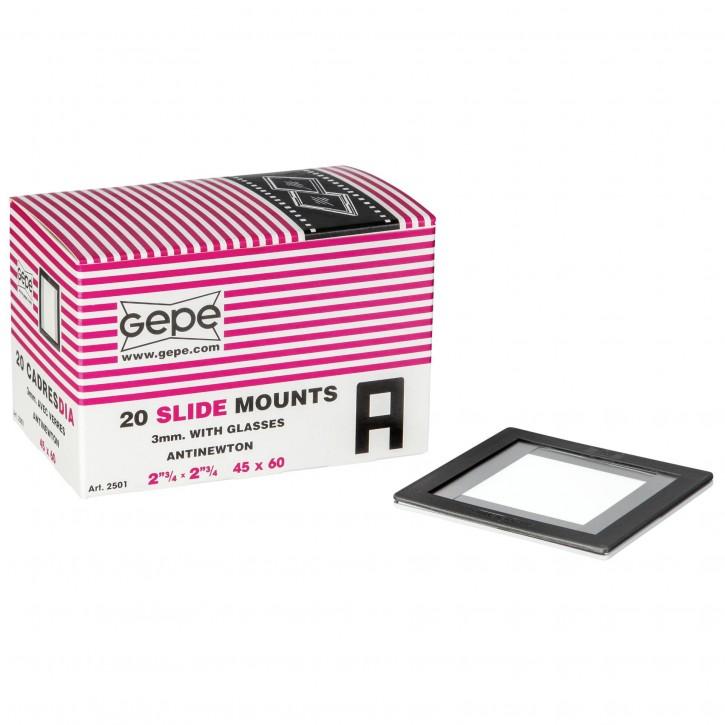 1x 20 Gepe 45x60 3,0mm AN-Glas 2501