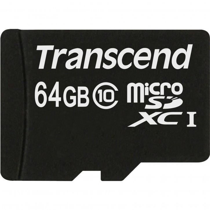 Transcend microSDXC         64GB Class 10 + SD Adapter