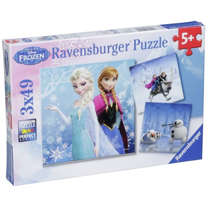 Ravensburger Abenteuer im Winterland 3 X 49 Teile Puzzle
