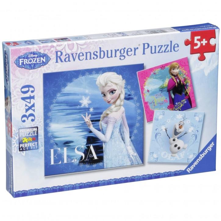 Ravensburger Elsa, Anna & Olaf 3 X 49 Teile Puzzle       Frozen