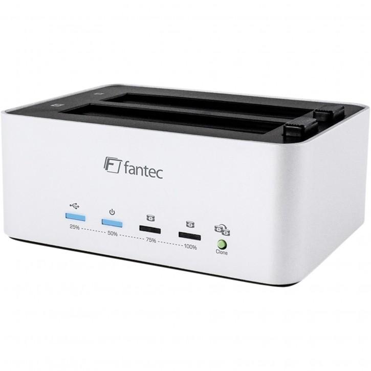 "FANTEC AluDOCK2X USB3.0 DOCKING ""Aluminium, Kopierfunktion, 2,5"