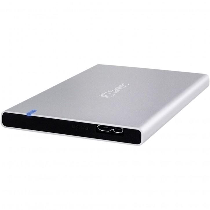 "FANTEC ALU7MMU3 silber Aluminium 2,5"" SATA, USB 3.0, 7mm Bauhöh"