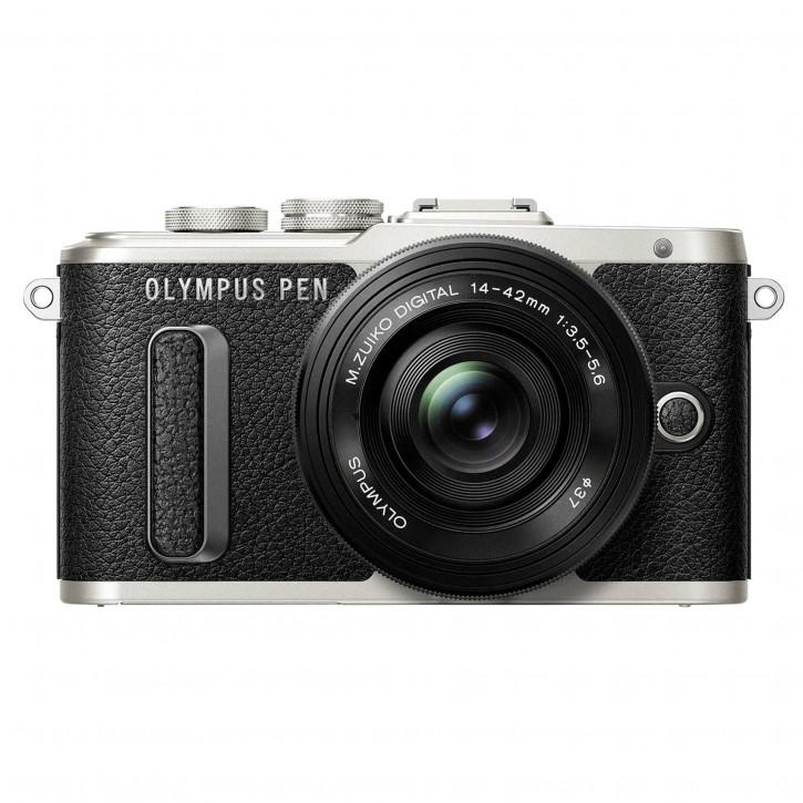 Olympus E-PL8 Pancake Kit + 14-42 EZ schwarz/schwarz