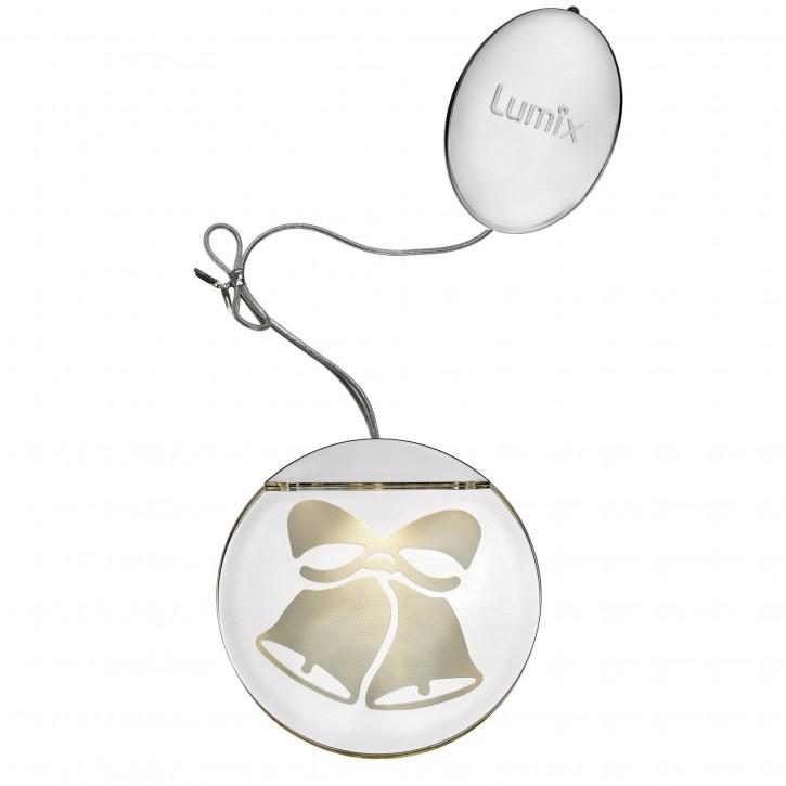 Krinner Deco Highlights silber 10cm Acryltaler Motiv Glocken