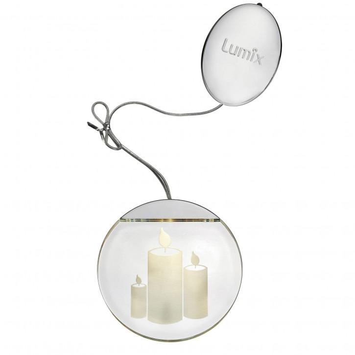 Krinner Deco Highlights silber 10cm Acryltaler Motiv Kerzen