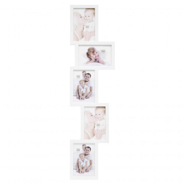 Deknudt S65SX1 weiß      5x10x15 Holz Galerierahmen für 5 Bilder