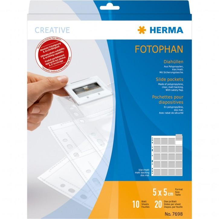 Herma Diahüllen 5x5  10 Blatt klar/matt                   7698