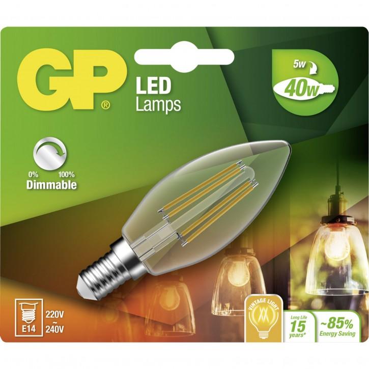 GP Lighting Filament Kerze E14 D 5W (40W) dimmbar 470 lm GP078166