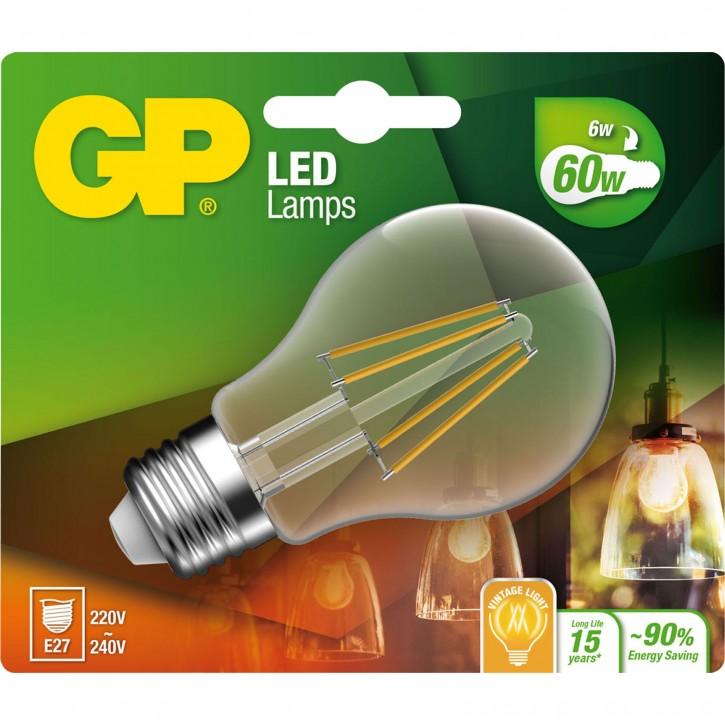 GP Lighting Filament Classic E27 6W (60W) 806 lm        GP 078234