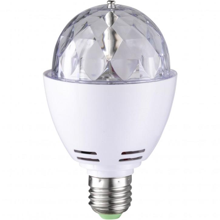 WOFI LED Discokugel Lampe E27 3W Farbwechsel