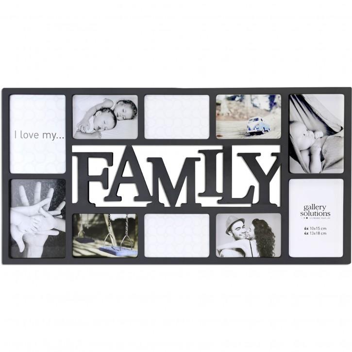 Nielsen Family Collage schwarz Kunststoff Galerie       8999332