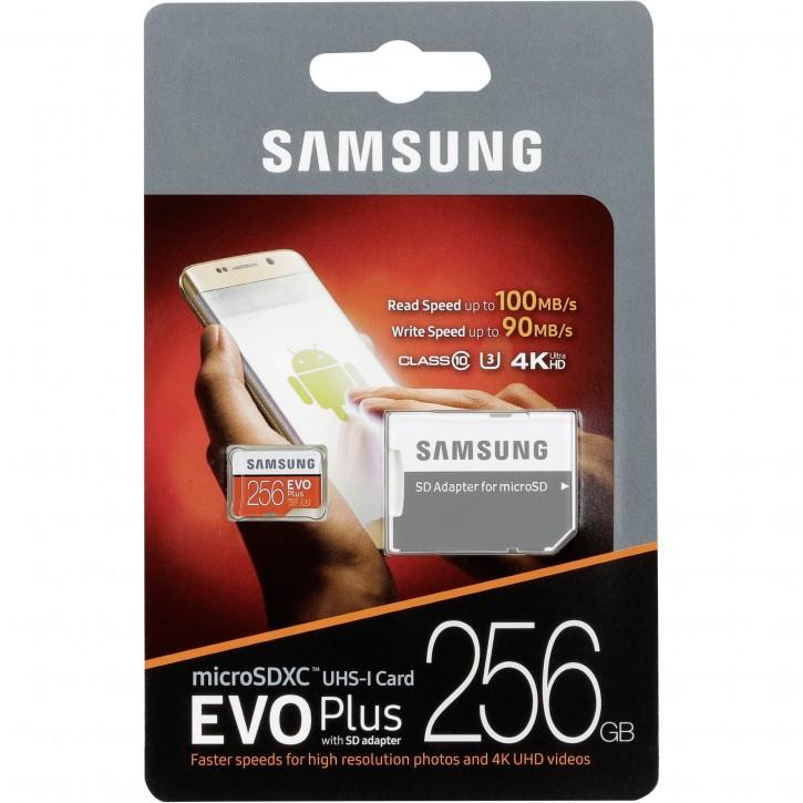 Samsung microSDXC EVO+ 256GB mit Adapter MB-MC256GA/EU