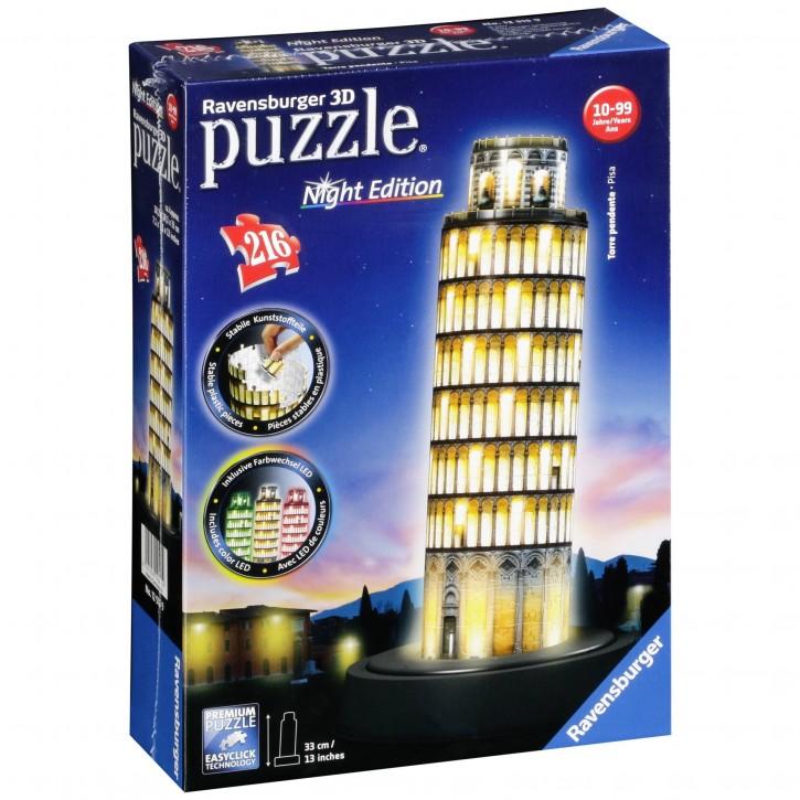 Ravensburger 3D Puzzle-Bauwerke Pisaturm bei Nacht