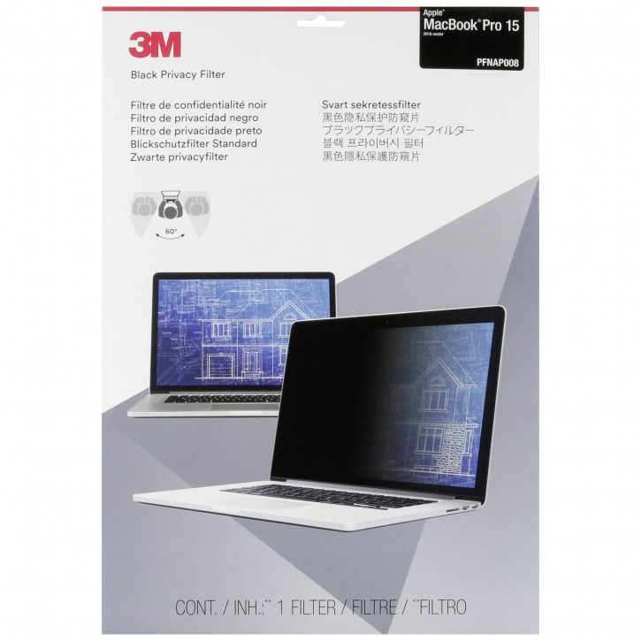 "3M PFNAP008 Blickschutzfilter für Apple MacBook Pro 15"" (2016)"