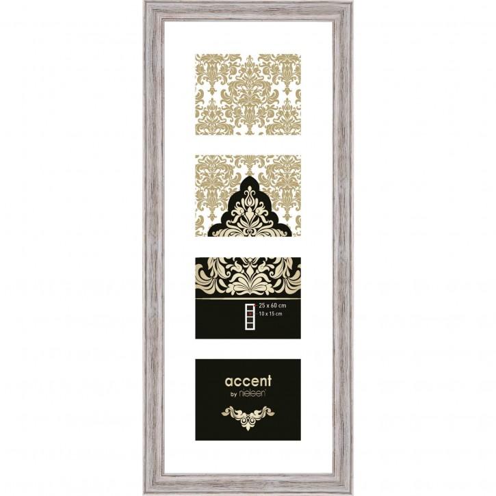 Nielsen Accent Vintage   4x10x15 Holz Galerie weiß        3229101