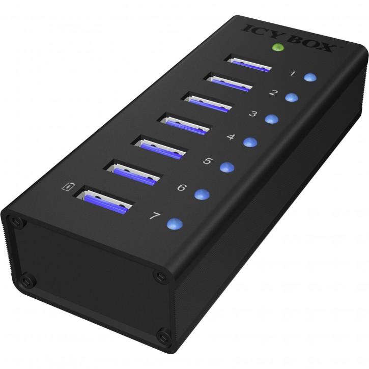 RaidSonic ICY BOX IB-AC618 7-Port USB 3.0 Hub Aluminium