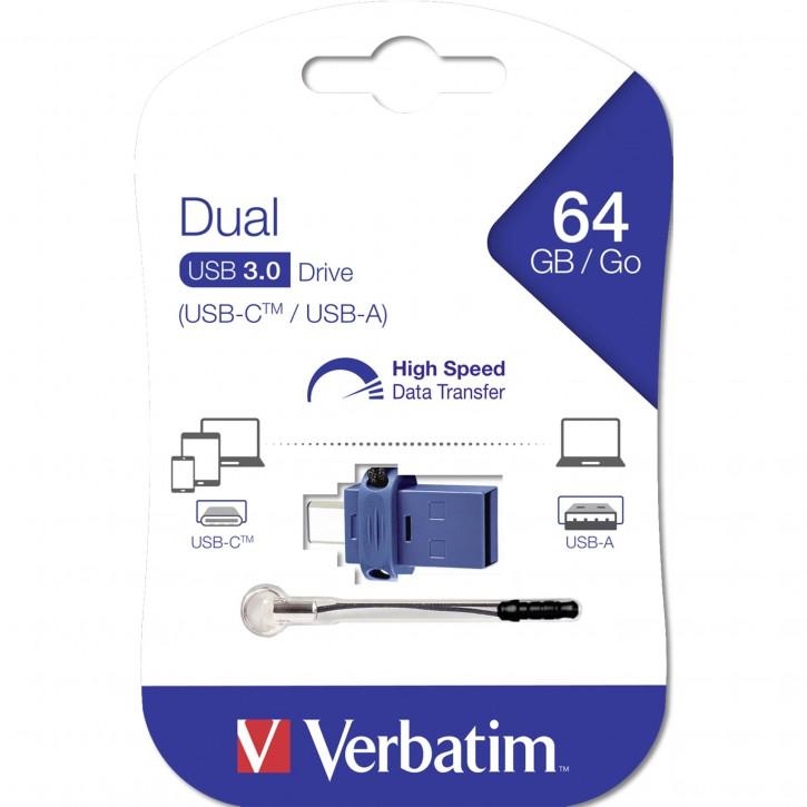 Verbatim Store n Go         64GB Dual Drive USB 3.0 / USB C