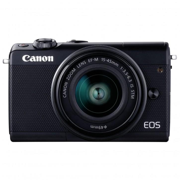 Canon EOS M100 Kit schwarz + EF-M 15-45