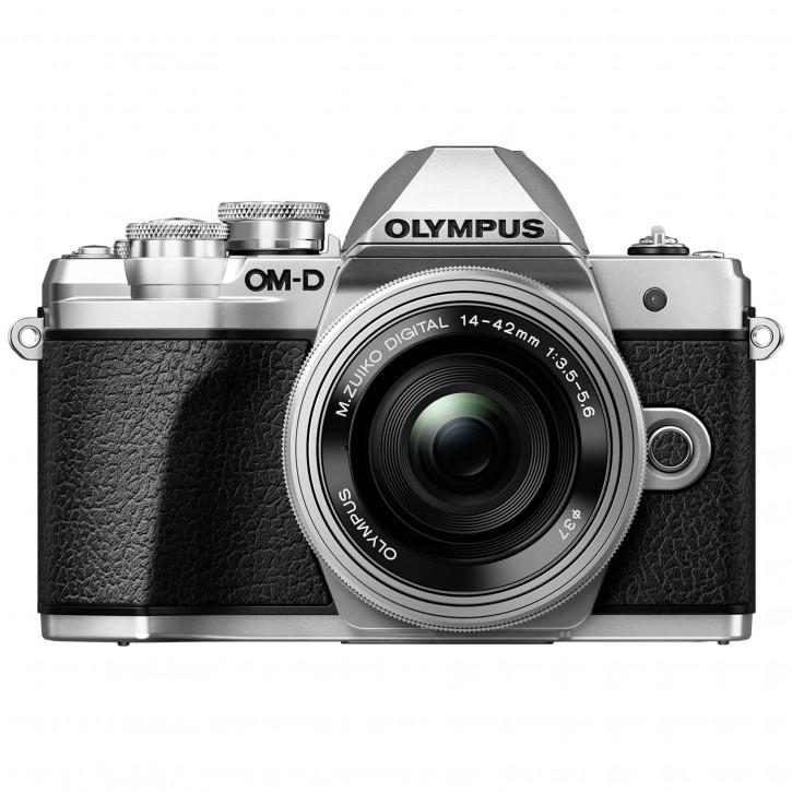 Olympus OM-D E-M10 Mark III Kit + 14-42 Pancake Zoom silber